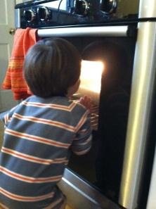 12-21 peeking in oven