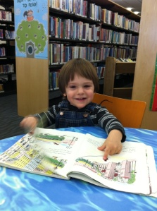 Das Big Boy on a library date with Nanny Sunshine. She took him out so I could nap, then I took a bath while he ate lunch. Hence, low BP for me. Thanks, NS!