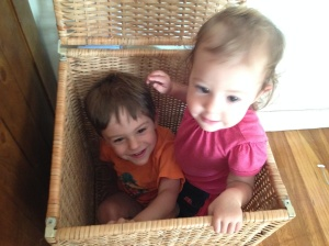 kids in hamper