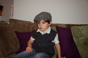 We styled the kids for a photo shoot. They didn't cooperate with poses, but we got a little Blue Steel from DBB.