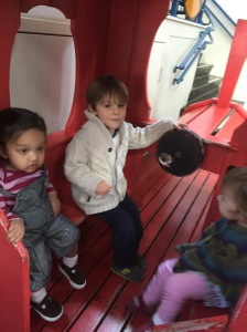 On Friday, Cliff worked from the hospital and Claire worked from home, so Herr Husband and I took Rudy, Little Liebchen, and Das Big Boy to the Port Discovery Children's Museum.