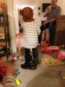 'Burban Big Girl rocking my Docs. And we were both sporting side ponytails. Not sure who is whose style icon.