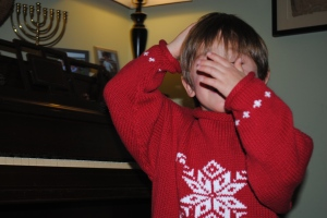 Holiday card outtake: no pictures!