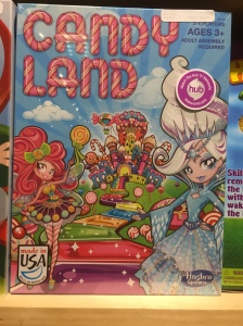 Seriously? They had to slut up Candy Land? It's fucking Candy Land. I want a Napoleon ice cream bar and a chubby gingerbread dude, not Bratz dolls. Ugh.