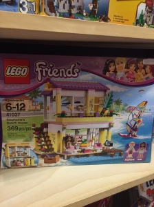 Stephanie's beach house. Great. Legos are marketed to little boys as a way to aspire to be superheroes or firefighters. Little girls are taught to be aspirational towards things like second homes to laze around in with their gal pals. Ok, so that sounds awesome, but it's still sexist and disgusting.