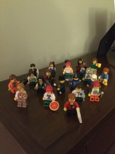 Twenty-one feminist Legos: among them, a financier, a pirate chef, a journalist, a cowpoke, a pop star, a gym teacher,